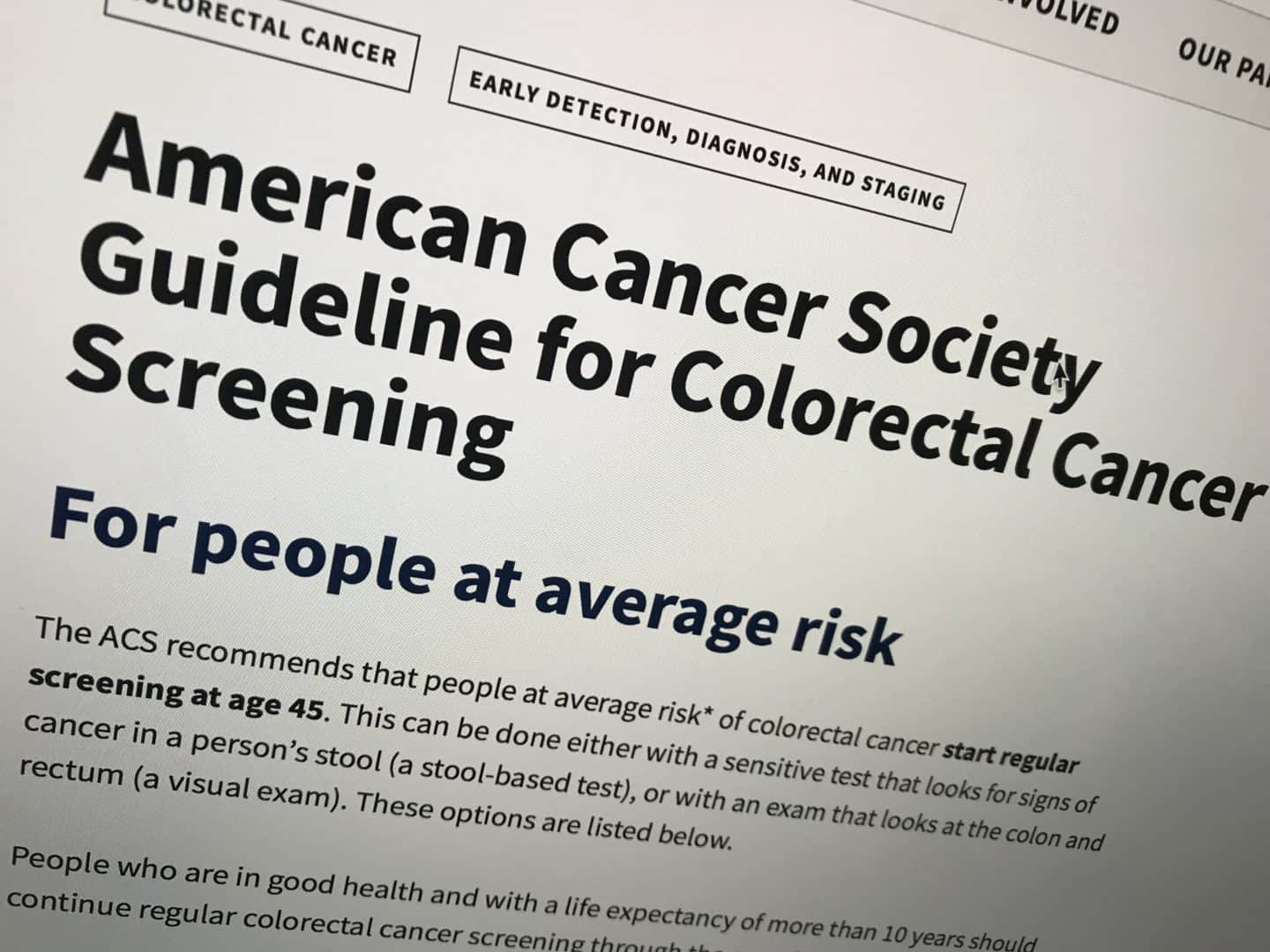 New Colon Cancer Screening Guidelines