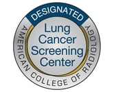 Lung Cancer Screening designated facility badge